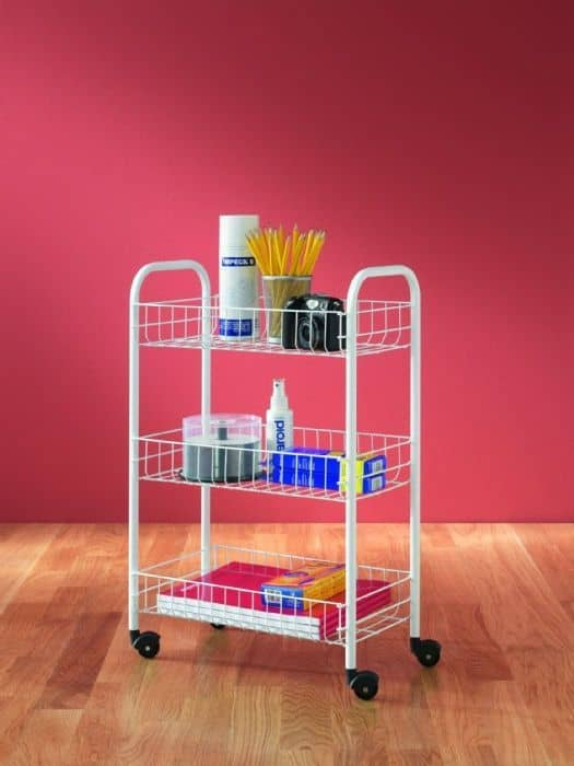 Picture of Metaltex 3 Tier Basket Trolley White