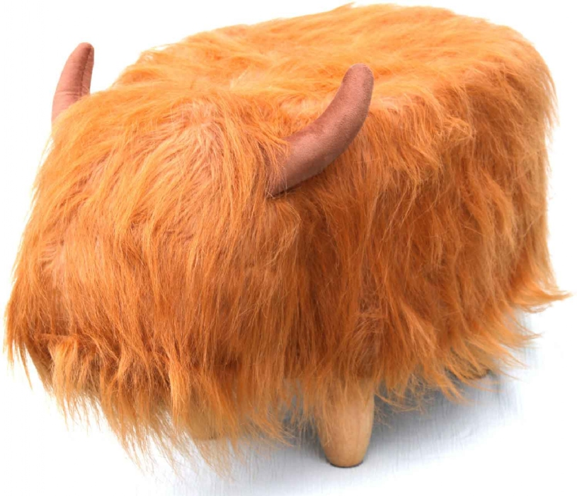 Picture of Gardeco Highland Cow Footstool