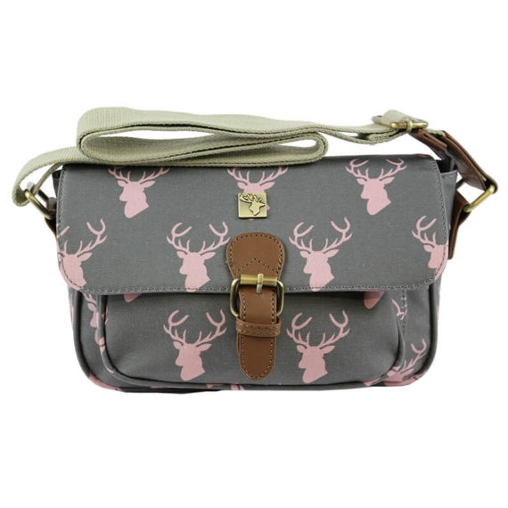 Picture of Small Satchel - Wax Pink Stag