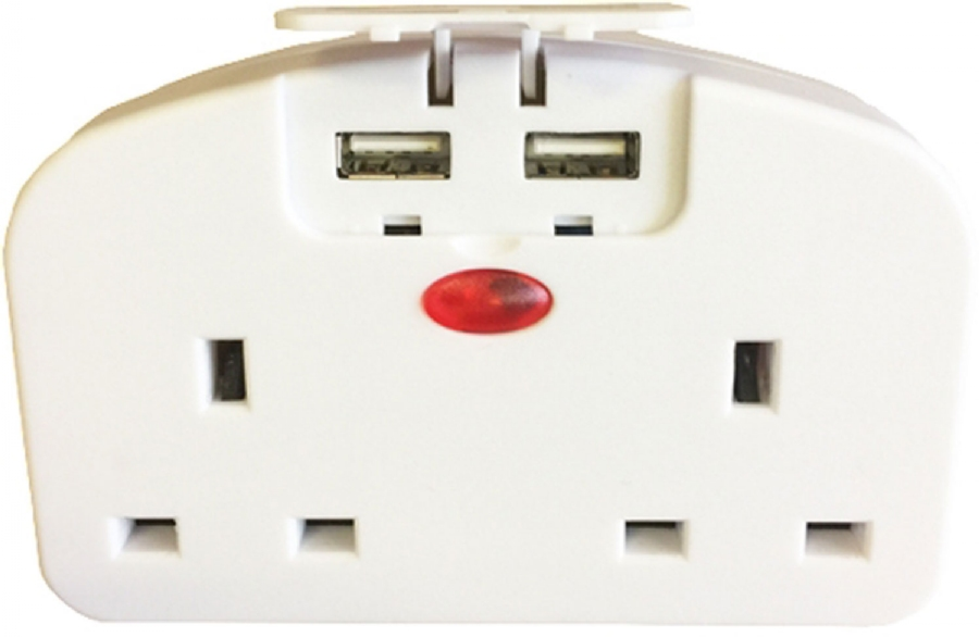 Picture of Far & Away European Travel Adaptor 2 Way