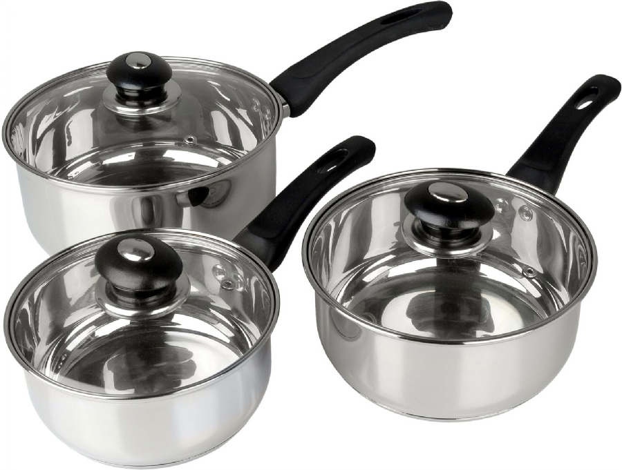 Picture of Supreme 3pc Saucepan Set Stainless Steel