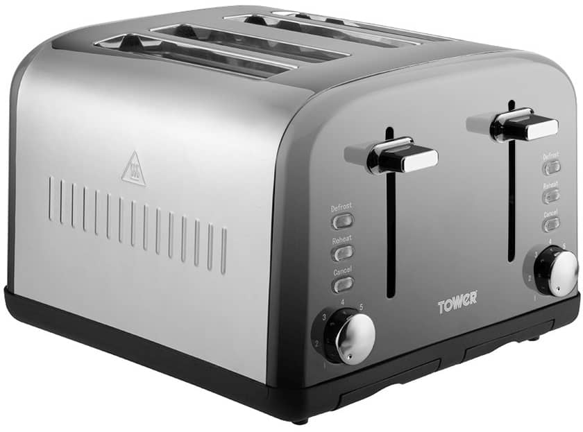 Picture of Tower T20015 Stainless Steel 4 Slot Toaster
