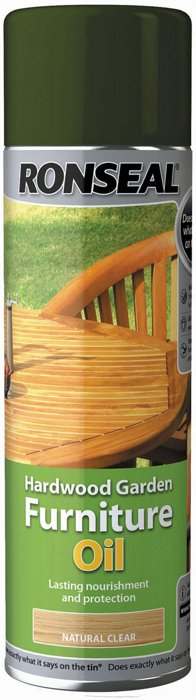 Ronseal 500ml H Wood Furniture Oil Spray, Oil For Wood Furniture