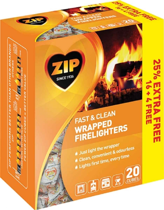 Picture of Zip Fast n Clean Firelighters (20)