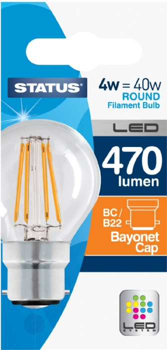 Picture of Status 4/40w Golf Filament LED WW BC