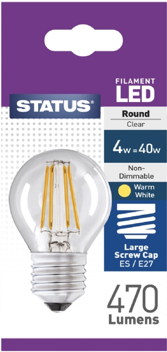 Picture of Status 4/40w Golf Filament LED WW ES