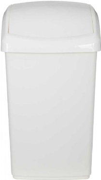 Picture of Whitefurze 40x30x26cm Cream Swing Bin 30Ltr