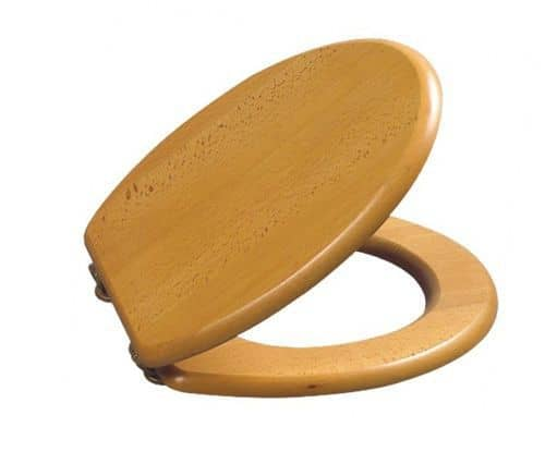 Spa Toilet Seat : Spa luxury solid wood toilet seat beech